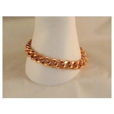 Large Solid Copper Heavy Duty 10 MM 9 Inch Chain Link Bracelet