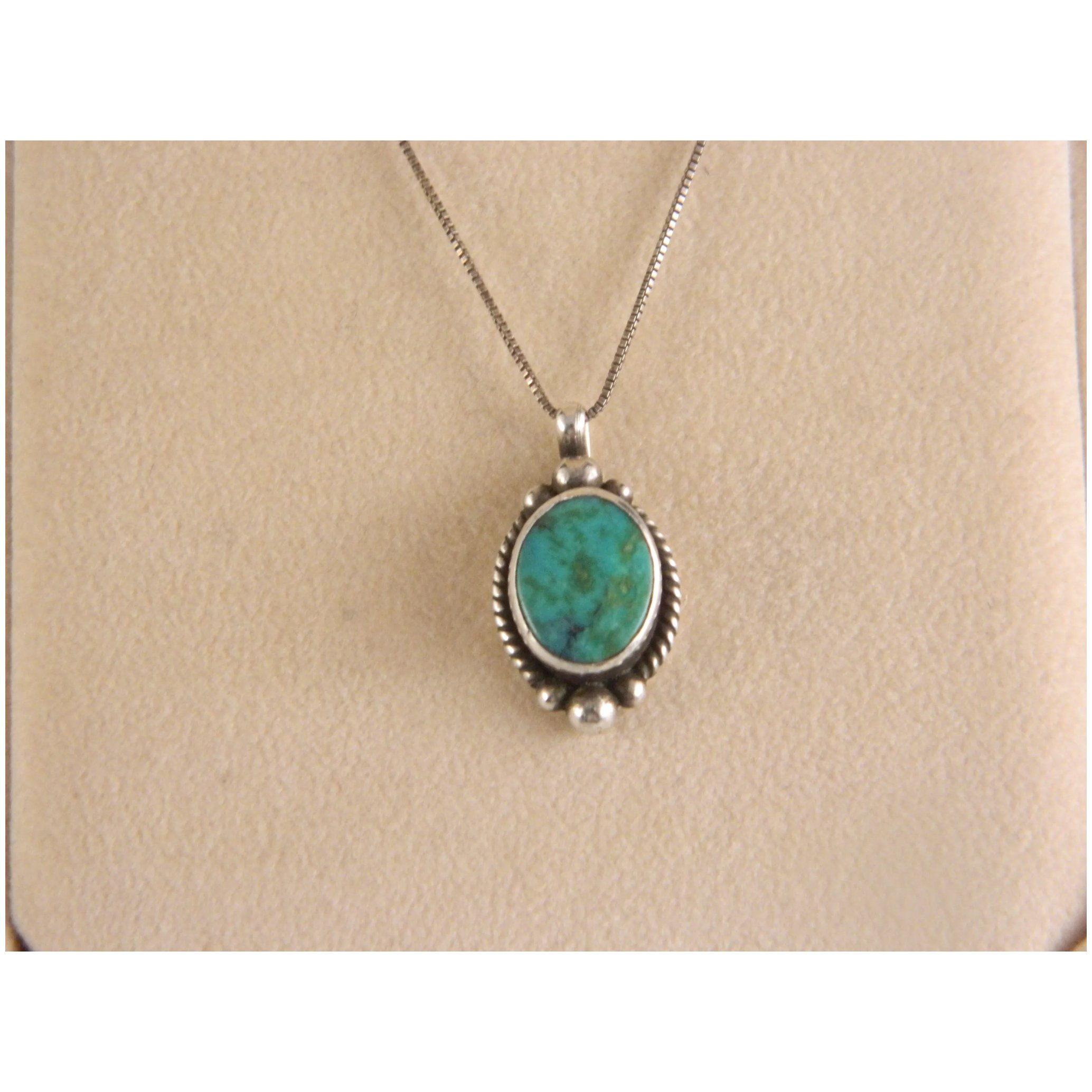 Hubei Turquoise 925 sterling silver pendant P0180