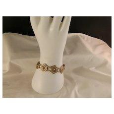 Vintage Vermeil Sterling Silver Rosette Link Bracelet