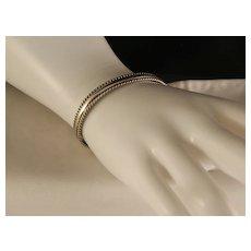 Vintage Navajo Tahe Sterling Silver Cuff Bracelet