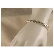 Vintage 1970's Southwest Navajo Style Sterling Silver Cuff Bracelet