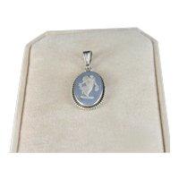 Vintage Wedgewood Jasper Ware Sterling Silver Pendant