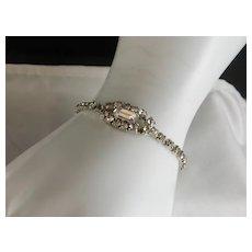 Vintage 1950's Rhinestone Bracelet 7 Inch