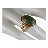 Vintage 10 K Yellow Gold Turquoise Ring