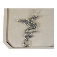 Vintage Mythical Dragon Sterling Silver Dragon Pendant