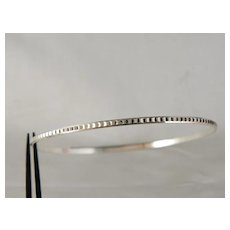 Vintage Sterling Silver Diamond Cut Bangle