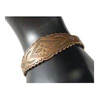 Vintage Old Southwest Railroad Era Copper Cuff Bracelet