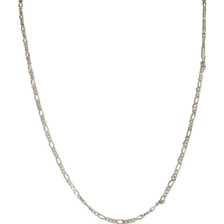Vintage Delicate Sterling Silver Link Chain 17 in.