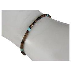 vintage Child's Heishi and Turquoise Bracelet