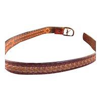 Vintage Artisan Handwoven Leather Belt