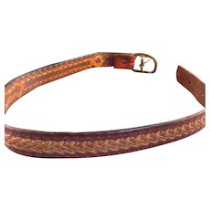 Vintage Handwoven Leather Belt
