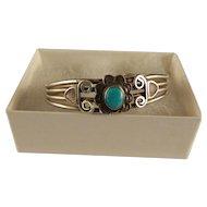 Vintage Southwest Sterling Silver Turquoise Bracelet