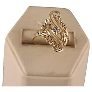 Vintage Filigree 10 Yellow Gold Ring