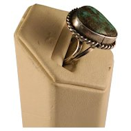 Vintage Navajo Sterling Silver Turquoise Ring