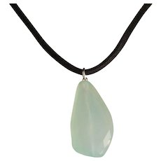 Vintage Chalcedony Sterling Silver Necklace
