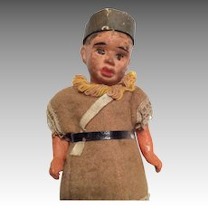 Antique Papier Mache Native American Indian Style German Doll