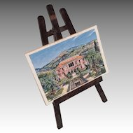 Miniature French Dollhouse Doll Print on Easel