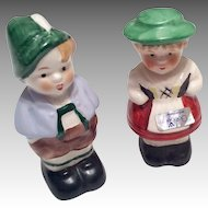 Vintage German Miniature Porcelain Doll Pair Goebel