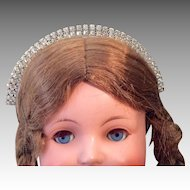 Vintage Rhinestone Doll Tiara Crown Headband