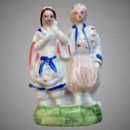 Antique Miniature China Glazed All Bisque Dollhouse Doll Figurine Statue