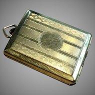 Miniature Antique Metal Doll Purse Pendant