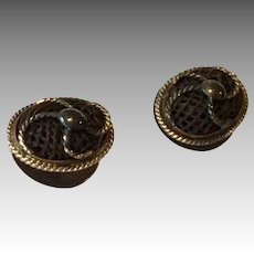 Tiny Victorian Woven Hair Studs or Buttons for Antique Doll Clothes Accent