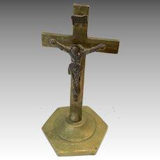 Antique Miniature Standing Crucifix Doll Size Religious