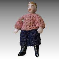 Boy All Bisque Carl Horn Antique German Doll Crochet Clothes