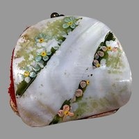 Miniature Doll Antique Purse Shell Mother of Pearl
