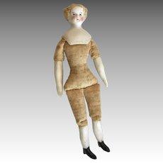 "4"" Antique Bisque Miniature High Brow Parian Dollhouse Doll to Dress"