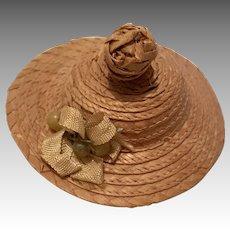 Excellent Antique Straw Doll Hat