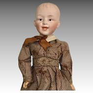 Laughing Gebruder Heubach All Original Clothes Shoes Antique German Bisque Jointed Body Straight Wrists Doll