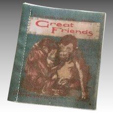 Cloth Miniature Doll Book Antique English Deans Rag Book Animals