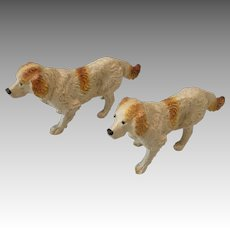2 Vintage Dog Pair for Dollhouse or Doll Best Friend