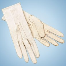 French Antique Leather Doll Size Gloves