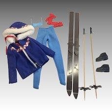 Vintage Mattel Barbie Complete Ski Queen Outfit