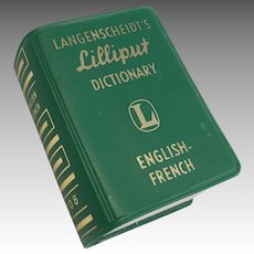 Miniature Doll English French Lilliput Dictionary Vintage German Book
