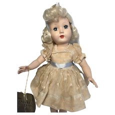 1950s SALE Effanbee Tintair Honey Hard Plastic Doll All Original Clothes Vintage Center Snap Shoes