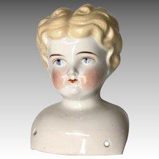 Blonde Antique German China Doll Head