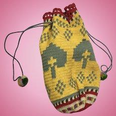 Primitive Antique Cloth Doll Purse