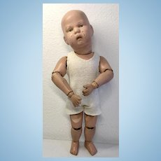 Antique Spring Jointed Wood Schoenhut Doll 1911
