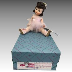 Vintage Madame Alexander Wendy Kin Ballerina Doll All Original in Box