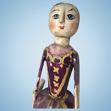 Handmade Primitive Wood Doll Artist Robin Thompson for Rose Percy Event 2012