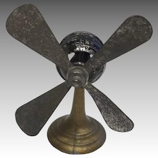 Dollhouse Doll Miniature Antique Metal Fan