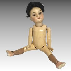 Fab! German Bisque Oriental Antique Asian Doll Great Flapper Body A.M.