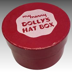 Vintage Doll Hatbox 1950s My Merry Hat Box