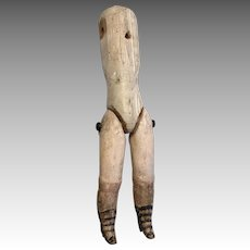 Antique Wood Doll Body for Bisque Belton