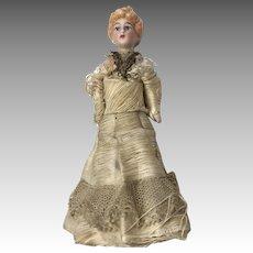 Antique German Dollhouse Doll Lady with Bun