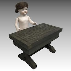 Wood Doll or Dollhouse Vintage Writing Desk Hinged Top Miniature Table Box