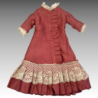 Lovely Doll Dress for Antique China Bisque Cloth Leather Body